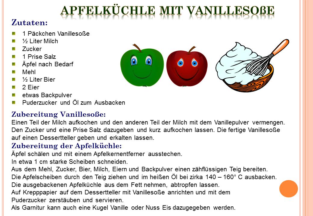 Apfelküchle mit Vanillesosse « Meine Internetseite.