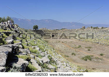 """Stock Photo of """"Large stadium at the ancient archaeological site."""