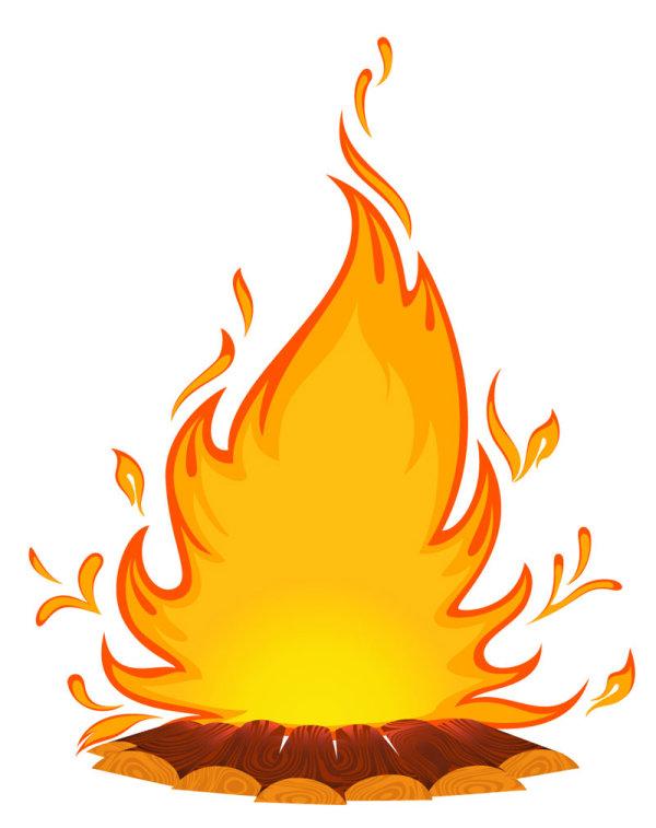 Cartoon Fire Background.