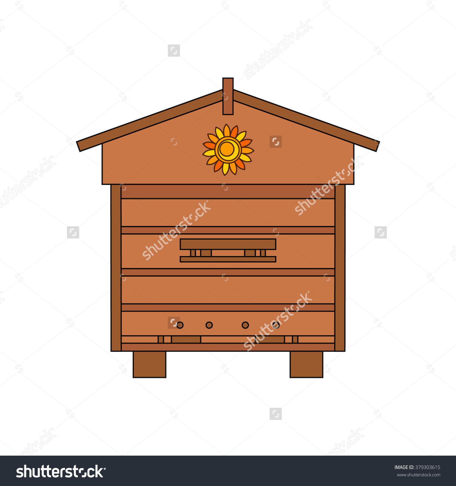 Apiary Honey Bee House Apiary Vector Stock Vector 379303615.