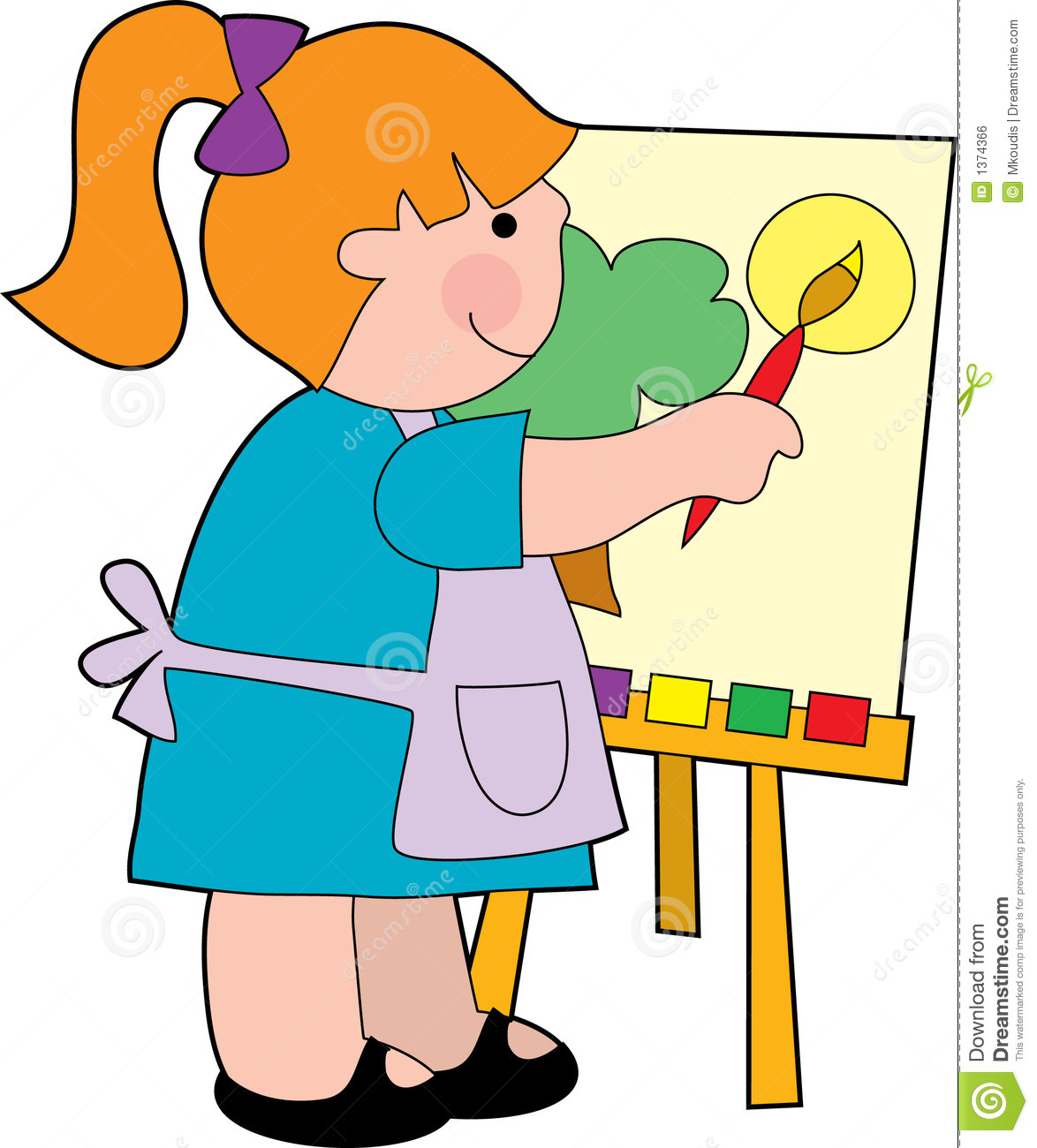 Kids painting clipart 5 » Clipart Station.