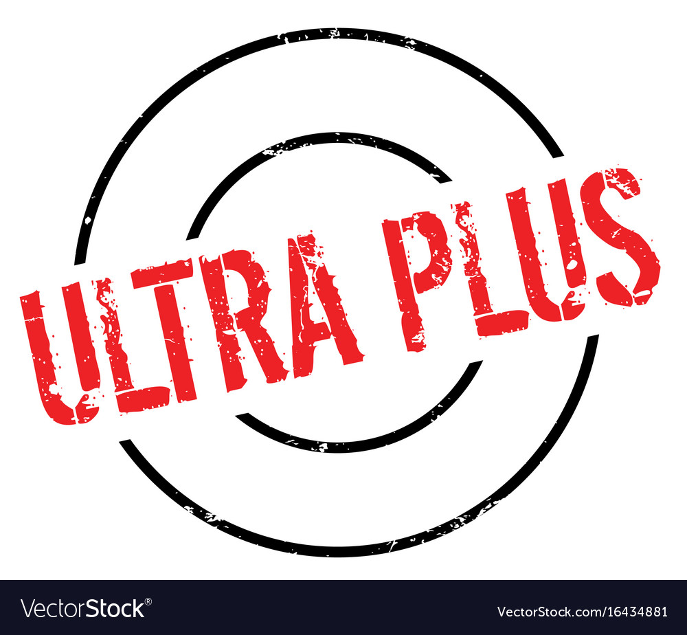 Ultra plus rubber stamp.