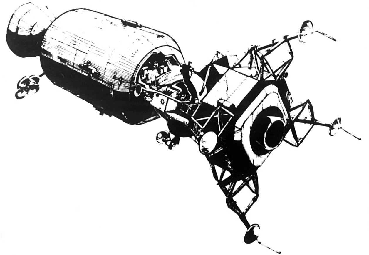 Apollo 11 clip art.
