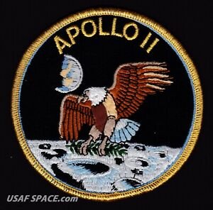 Details about Apollo 11 ORIGINAL AB Emblem Nasa SPACE Mission PATCH  Armstrong.