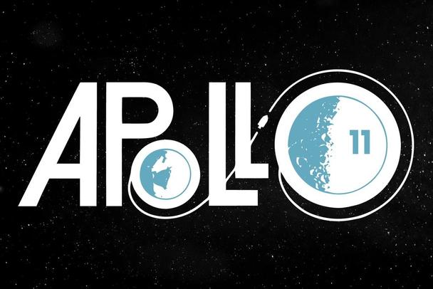 Apollo 11 Retro Logo NASA Laminated Dry Erase Sign Poster 24x36.