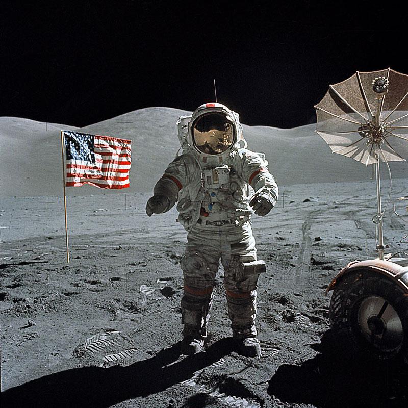Eugene Cernan Of Apollo 17 Clipart.