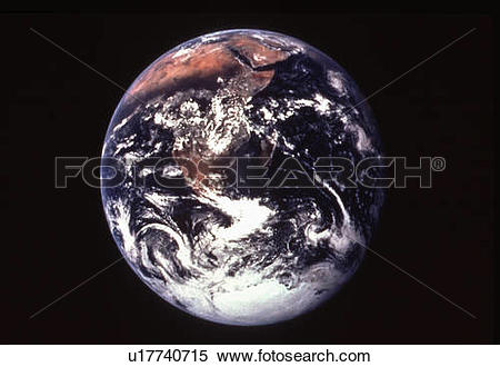 Stock Image of background earth space apollo 17 spacecraft nasa.
