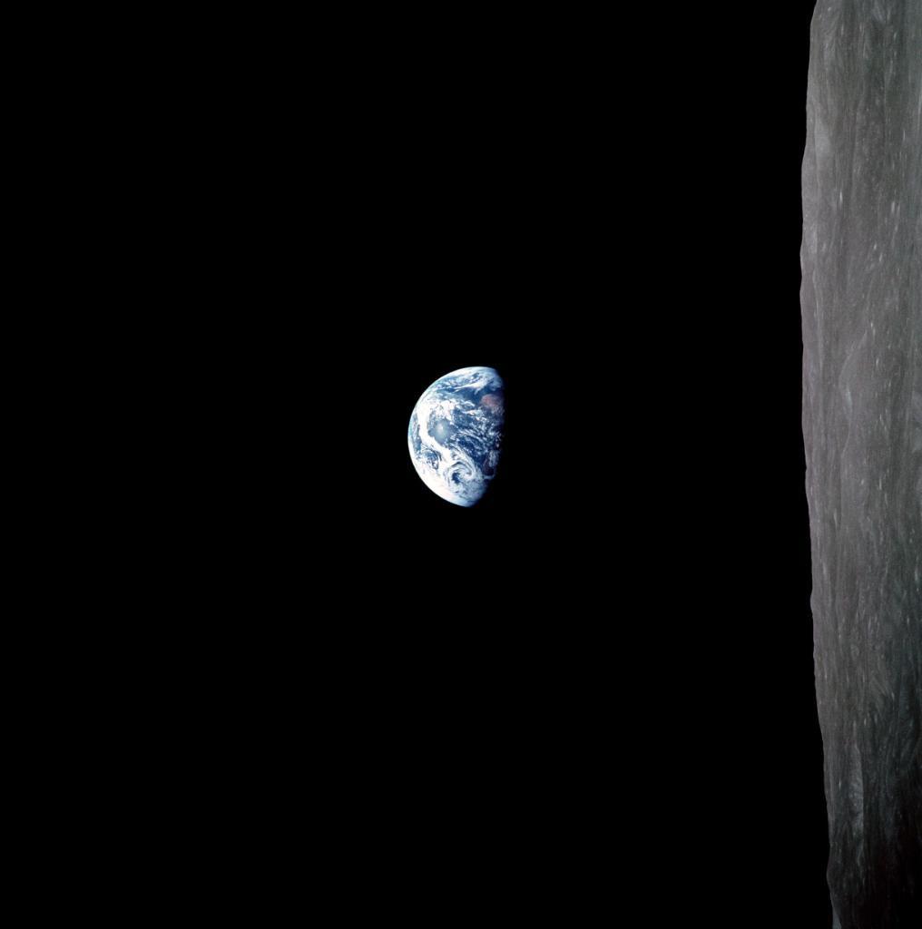 Apollo: The crew of Apollo 8 took \