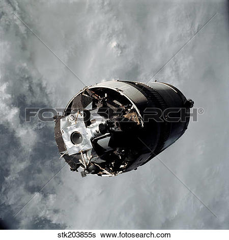 Stock Images of The Lunar Module Spider of the Apollo 9 mission.