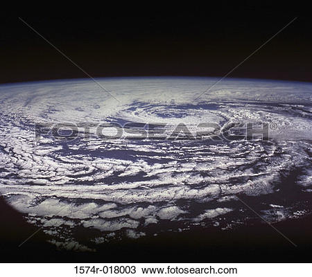 Stock Photo of Cyclonic Storm By Apollo 9 March 11, 1969 1574r.