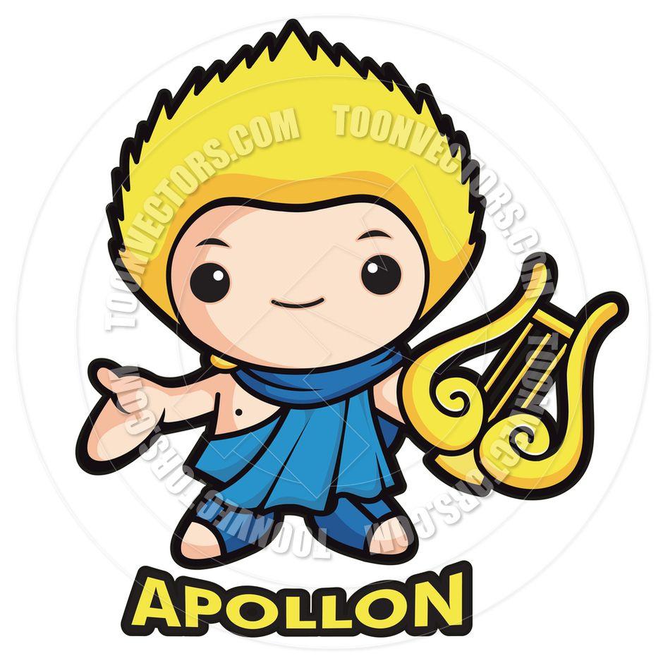 Greek God Apollo Clipart.