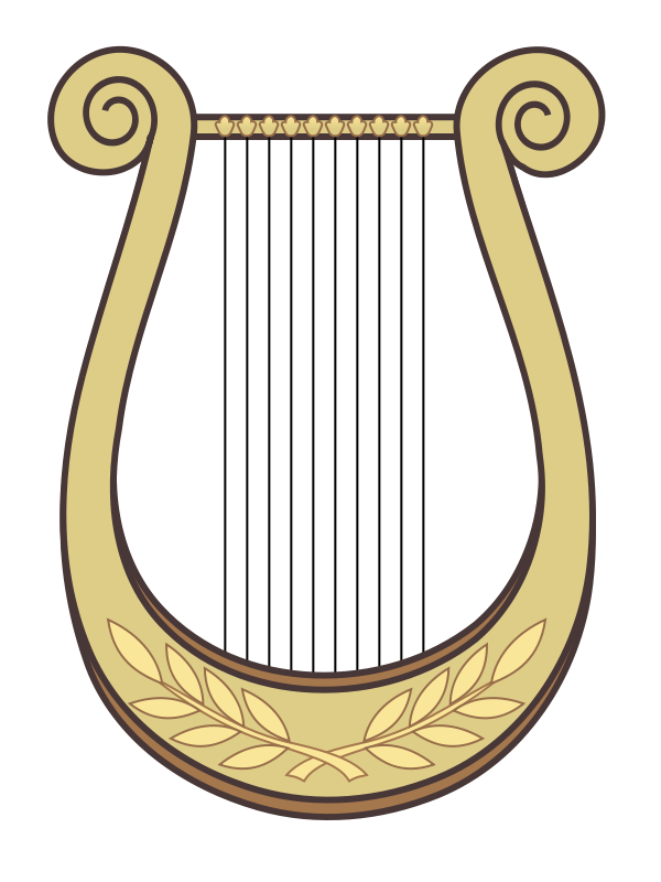 Hand Harp Clipart.