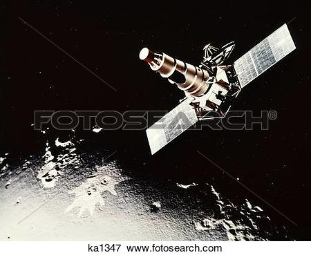 Picture of 1960S Ranger B Nasa Unmanned Space Mission To The Moon.