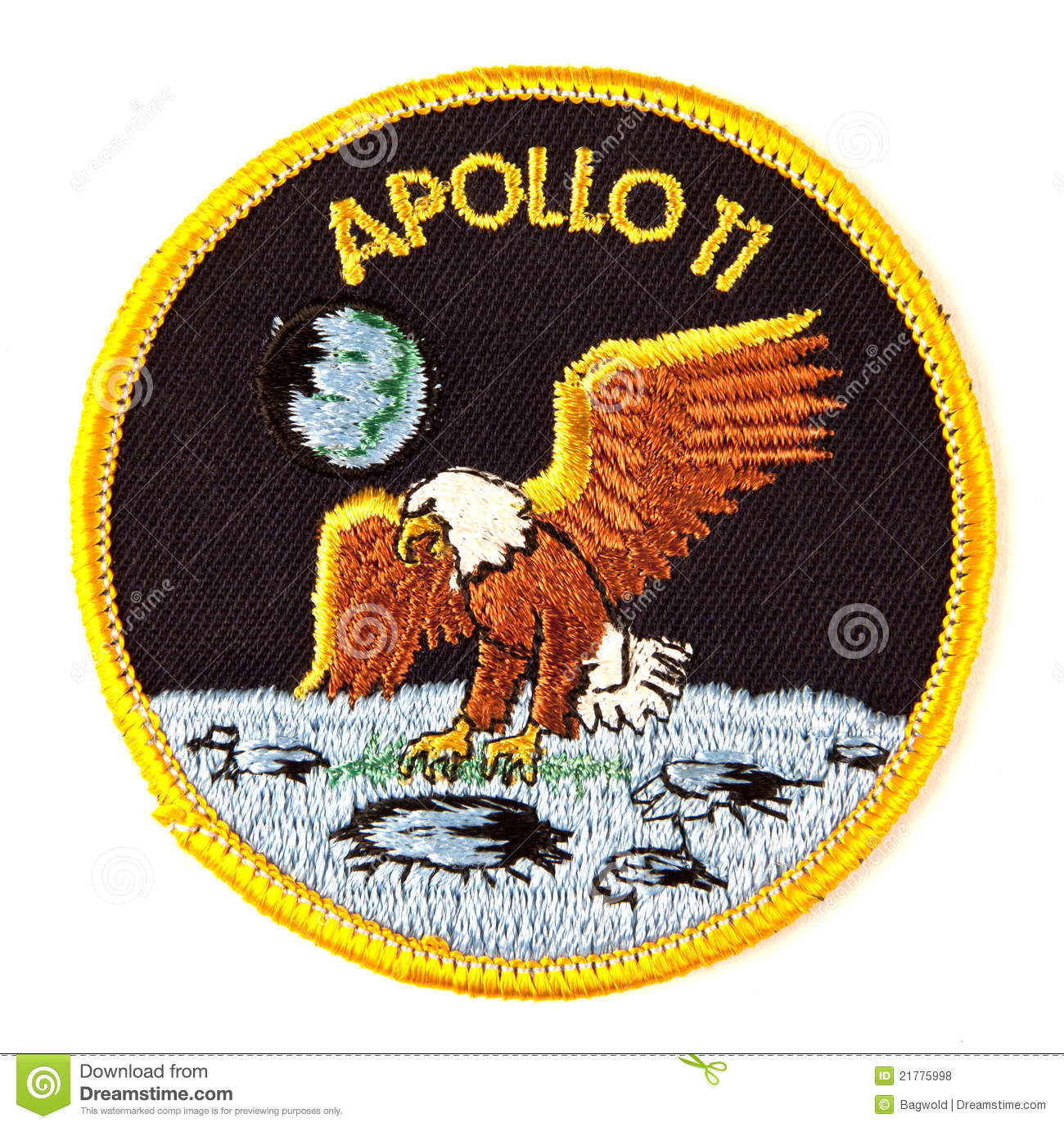Apollo 11 Mission Space Suit Badge Royalty Free Stock Photos.