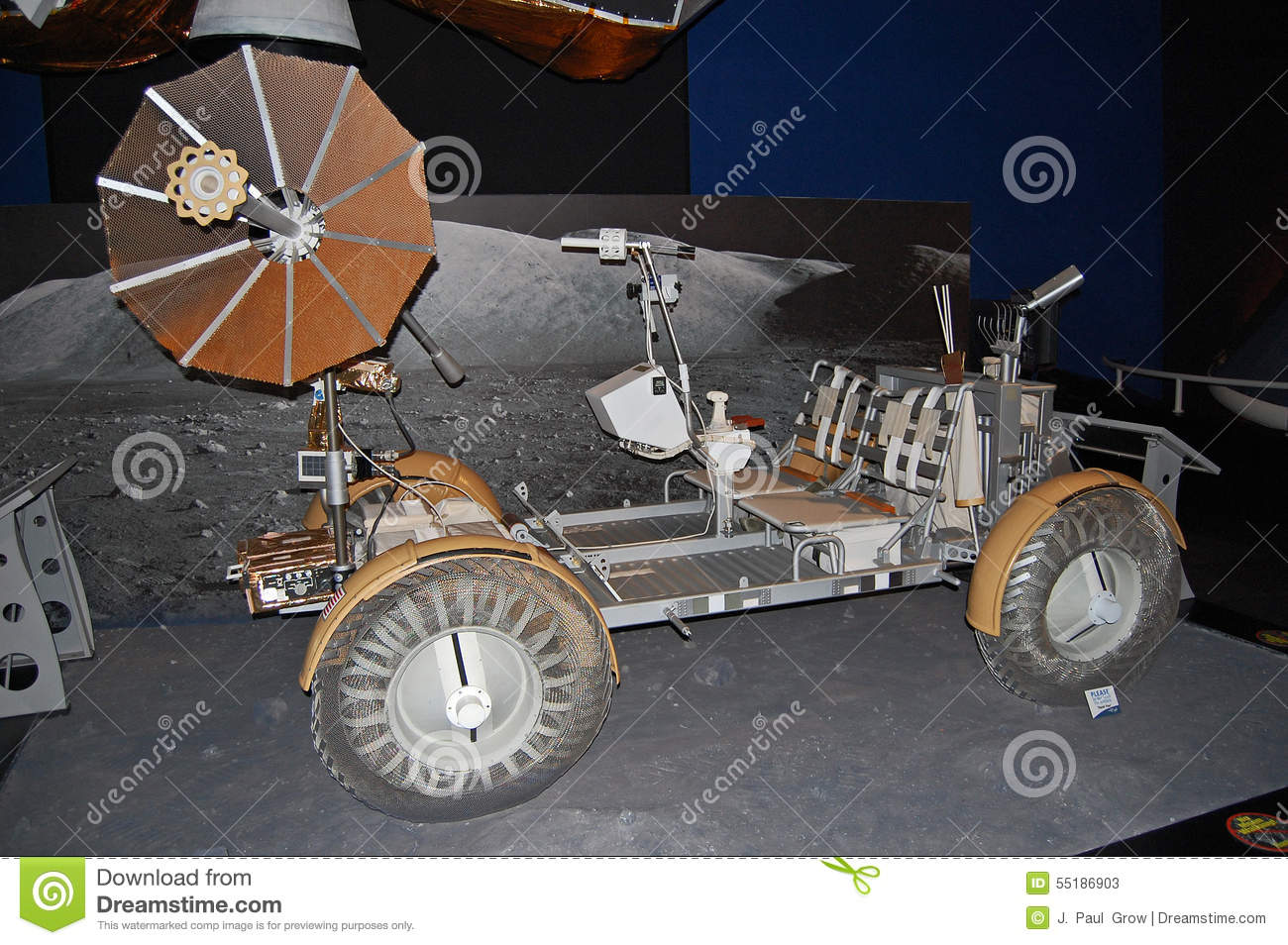Moon Buggy, The U.S. Apollo Lunar Roving Vehicle Editorial Stock.