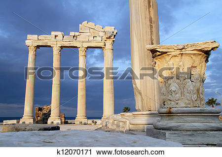 Stock Photography of Ruins of Apollo temple in Side k12070171.