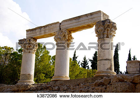 Stock Images of Archaeological Dig Site at Apollo Temple, Corinth.