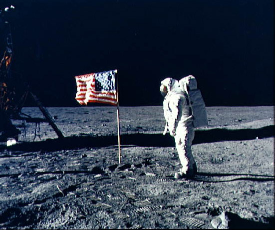 Man First Walks on the Moon.