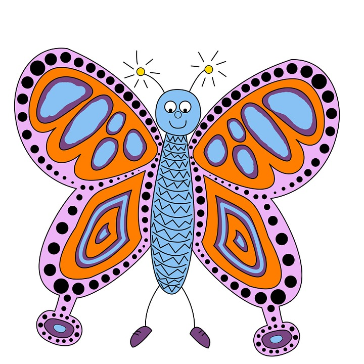 Free illustration: Butterfly, Spots, Insects, Art.