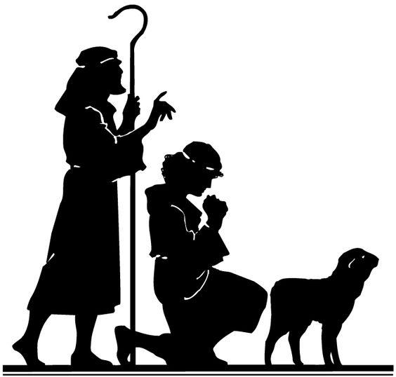 silhouette nativity scene pattern.