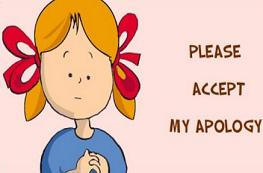 Free Apology Clipart.