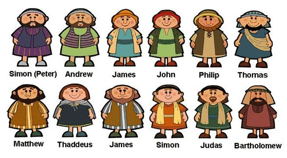 12 Apostles Of Jesus Clipart.