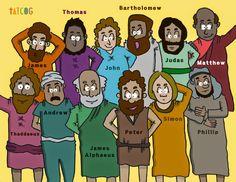 12 disciples clipart.