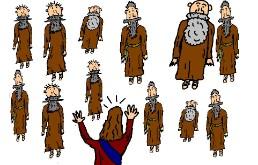 Jesus Calling Disciples Clipart.