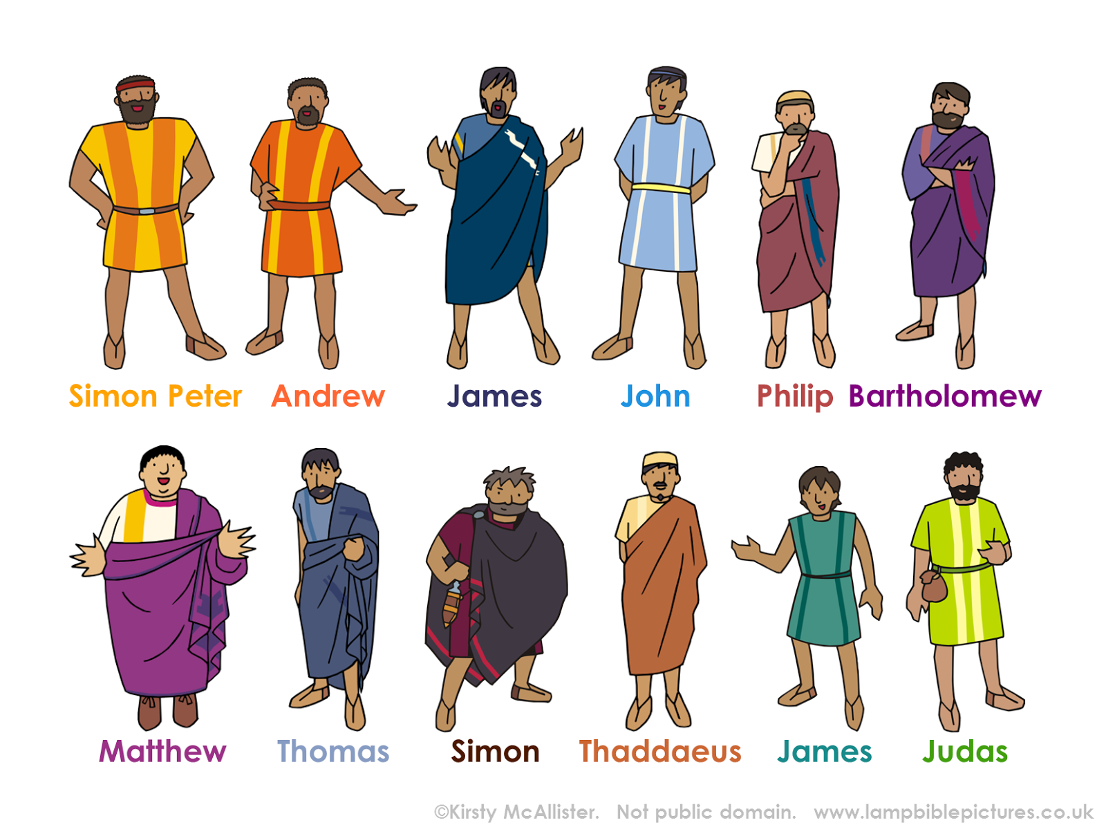 12 Apostles Clipart.