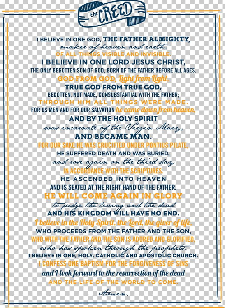 Apostles' Creed Nicene Creed Catholicism PNG, Clipart, Free PNG Download.