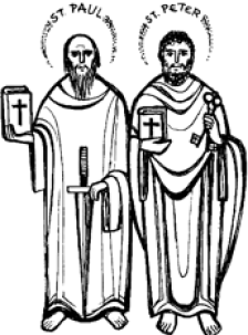 St Peter and Paul, Apostles (Solemnity).