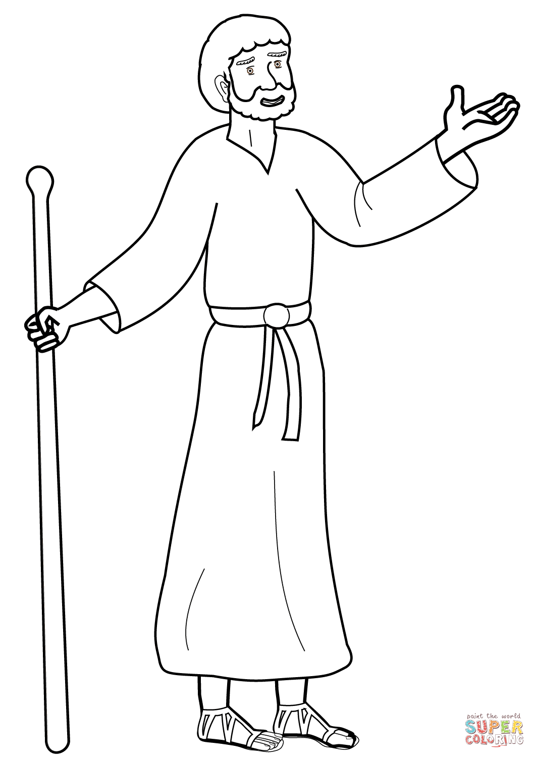 Cartoon Paul the Apostle coloring page.
