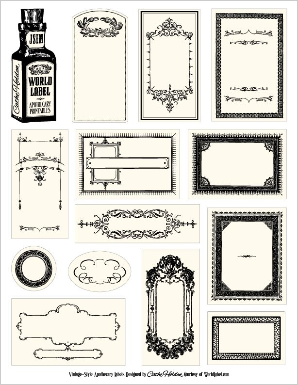 apothecary label template.