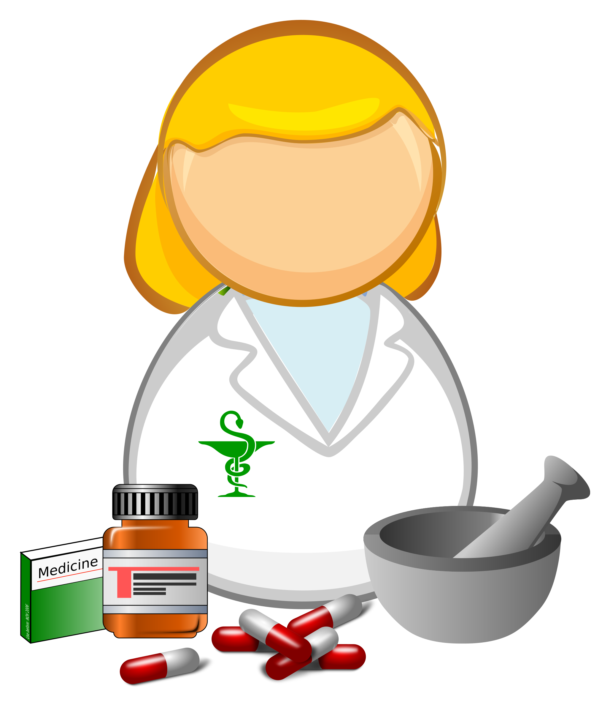 Pharmacy Pills Clipart.