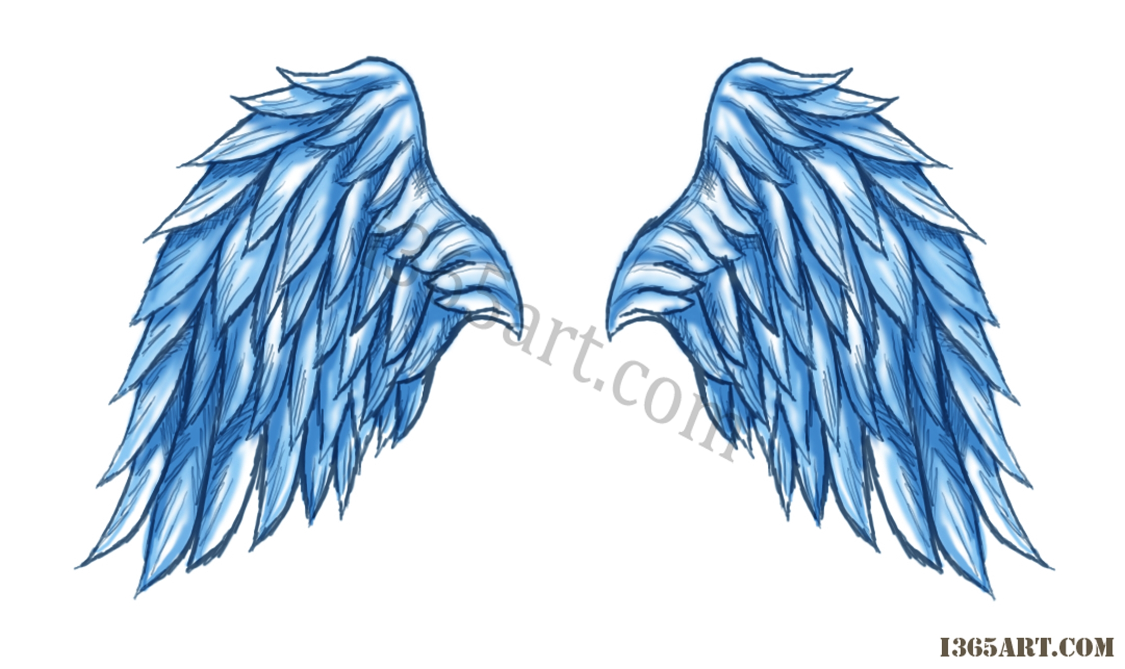 Angel Wing Drawing Tutorial at GetDrawings.com.