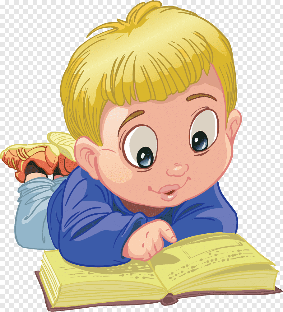 Boy reading book illustration, Bible story New Testament App.