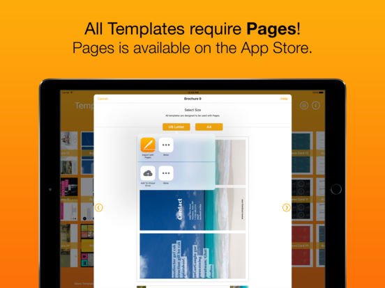 Templates for Pages (for iPad, iPhone, iPod touch) on the App Store.