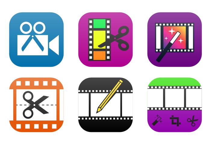 Video Editing App Icon Vector.