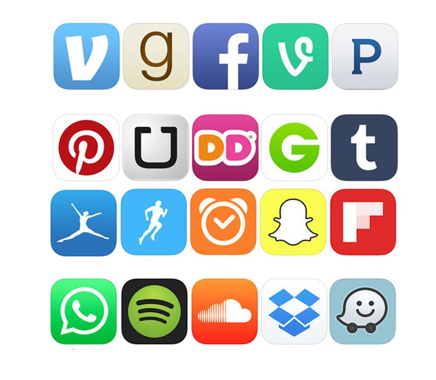 Label the App Logos Quiz.