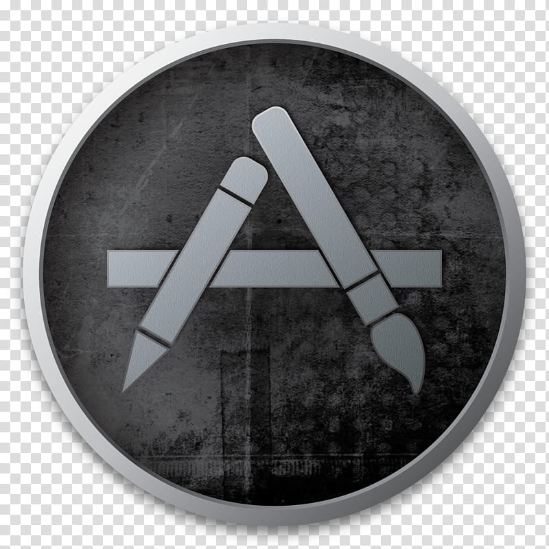 Dark Icons Part II , AppStore, gray and white logo.