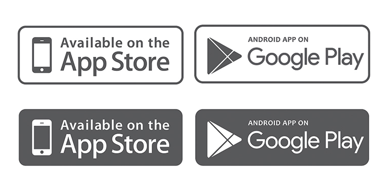 15+ Mobile App Download (App Store, Google Play) Button Templates.