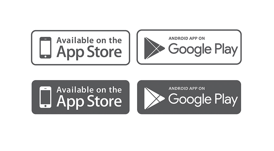 Free icons AppStore and Google Play (2015) on Behance.
