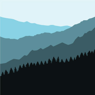 Mountains appalachian mountain range clipart.