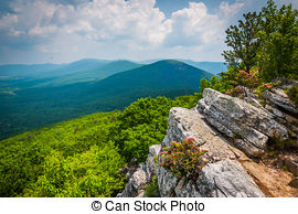 Stock Photography of View of the Ridge and Valley Appalachians.
