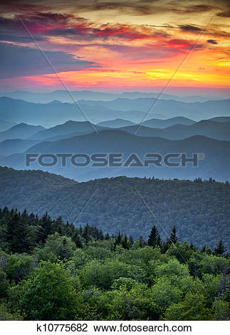 Stock Photo of Blue Ridge Parkway Scenic Landscape Appalachian.