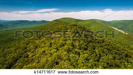 Picture of View of the Ridge and Valley Appalachians from Big.