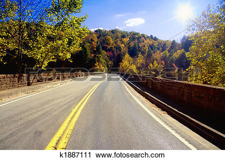 Stock Photography of Road through Appalachians k1887111.