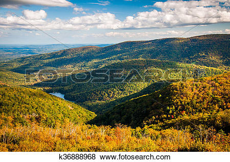 Pictures of Early autumn view of the Appalachians from Moormans.
