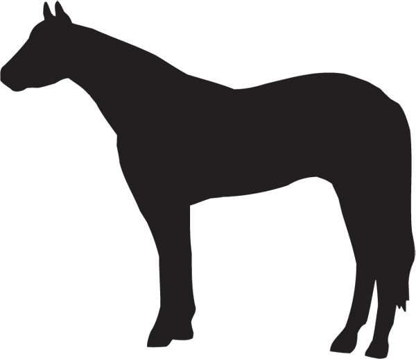 Horse Clip Art For Custom Engraved Award Plaques & Gifts.