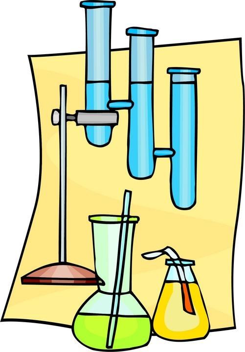 Laboratory apparatus clipart.